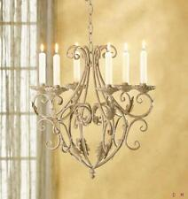 Hanging candle chandeliers for sale ebay wrought iron aloadofball Image collections
