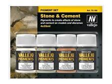 Vallejo 35ml x 4 73192 pigment set-pierre et ciment