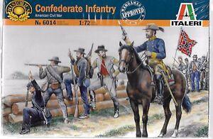 Italeri American Civil War Confederate Infantry in 1/72  6014 ST