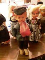 Souvenir Dolls Dutch Holland Vintage - Eyes Close Set of 7