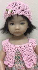 "*Crochet "" Pink "" Sweater & Hat~Effner Darling ~ 13"" Dolls & Betsy McCall"