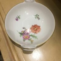 Antique KPM Berlin Porcelain Hand Painted Basket Bowl