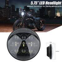 "5 3/4"" 5.75 Pouce LED Phare Feux Avant Hi/Lo Moto Lampe Projecteur Headlight"