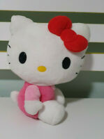 HELLO KITTY PLUSH TOY WEARING PINK SANRIO CHARACTER TOY 19CM 2015