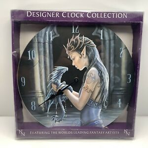 Water Dragon Round Gothic Medieval Wall Clock Bedroom Nemesis Now Anne stokes
