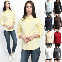 MOGAN Skinny Fit Button Down LONG SLEEVE BLOUSE Basic Stretch Cotton Slim Shirts
