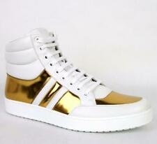 New Authentic Gucci Mens Contrast Padded Leather High-top Sneaker 368494 $650