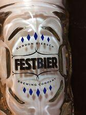 Gordon Biersch Festbier 1.0 L Dimpled Glass Beer Stein Mug, Made In Austria