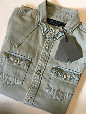 AllSaints Men's Fitted No Pattern Casual Shirts & Tops