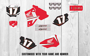 Honda CR80 GRAPHICS KIT 1996 - 2002  Customised motocross graphics All Years MX