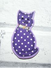 Cat Pin Brooch Fabric & Felt Handmade