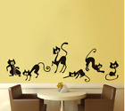 Funny Black Cat Wall Stickers Animals Wall Art Decals Home Decoration 42cmx25cm