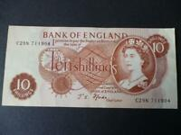 1967 FFORDE TEN SHILLING NOTE IN EXTREMELY FINE CONDITION DUGGLEBY B310.