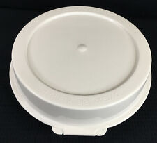 "Pyrex Pie Keeper P309 Hinged Domed White Plastic For 9"" Pie 209 And Corning Pan"