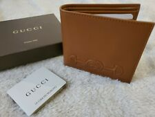 Gucci 100% Leather Brown Men's Bifold Wallet