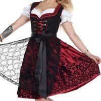 """Kleid und Schürze Girl/"""" Oktoberfest Kostüm /""""Trachten Mini Dirndl  Set 2-tlg"""
