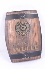 Wulle Bier Brauerei Wandschild Fassform Kunststoff 70er? 80er?