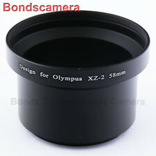 58mm 58 DC Lens Filter Adapter Ring for Olympus XZ-1 XZ-2 XZ1 XZ2 camera black