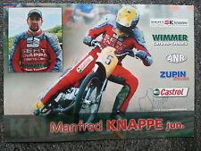AK m.Orig.AG Manfred Knappe GER Grasbahn / Speedway Weltklasse.