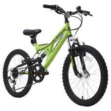 "Terrain AMT1020XT 20"" Kids Mountain Bike 12"" Frame Dual Suspension Green"