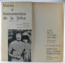 Casa De La Cultura Del Peru - Voces E Instrumentos De La Selva - LP - Folklore