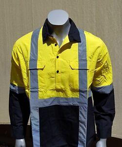 BAMBOO WOVEN SHIRT - Men - Long Sleeve - Reflector - Yellow - Hi Vis Safety Wear