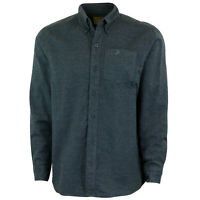 Mossy Oak Men's Solid Flannel Button-Up Shirt, Long Sleeve Flannels for Men