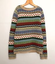 UNITED COLORS OF BENETTON WOMEN'S WOOL COLORFUL SWEATER PULLOVER JUMPER – Size L