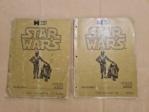 Star Wars DATA EAST Original Manual Pinball USA SHIPPING