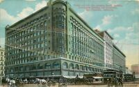 DB Postcard CA J281 Market St Pacific Emporium San Francisco As Is Horse Germany