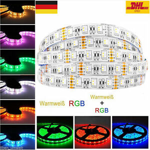 5-20M LED RGBW Stripe RGB+WW Strip Streifen Band 5050SMD Band Dimmbar Kette 10mm