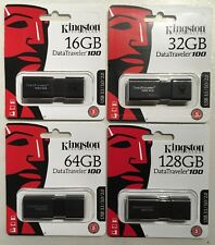 Pendrive Kingston DataTraveler 100 G3 - USB 3.0 - 16GB/32GB/64GB/128GB - memoria