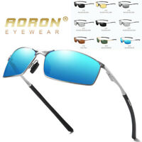 Mens Vintage Polarized Driving Sunglasses Fishing Eyewear Shades Metal Frame New