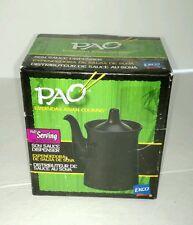 NIB PAO Ekco Soy Sauce Dispenser Black Ceramic