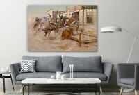 In Without Knocking 1909 Western Canvas Print Wall Art Painting Art Wall Décor