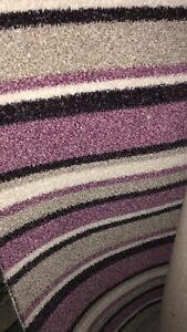 STAIR OR HALL CARPET RUNNER Purple Beige and White Made to Measure any size