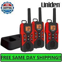 UNIDEN Long Range 3-pack Rechargeable Two Way Radio Walkie Talkies 30 MILE 2-Way