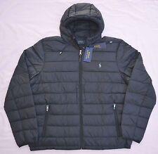 New XXL 2XL POLO RALPH LAUREN Men packable down jacket puffer black bubble coat