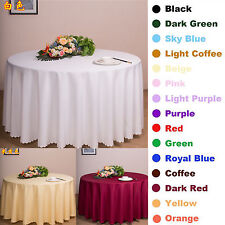 Round Square Tablecloth Table Cover Dining Wedding Party Restaurant Banquet New