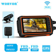 A10 3 Inch SONY IMX323 2 Channels 1080P 30FPS Motorcycle Wi-Fi GPS Dash Cam DVR