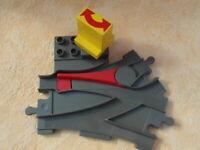 LEGO DUPLO EISENBAHN WEICHE ALTES GRAU