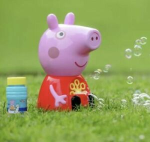 PEPPA PIG BUBBLE PARTY MACHINE INDOOR OUTDOOR GARDEN PARTY BUBBLES FUN TOY