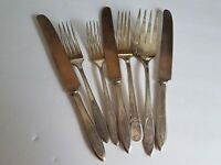 Cutlery Lot Silver Plated Fork and Knife Lot Vintage