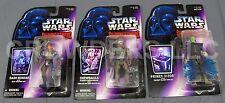 Star Wars Shadows of the Empire Chewbacca Dash Rendar & Prince Xizor Figures NIP