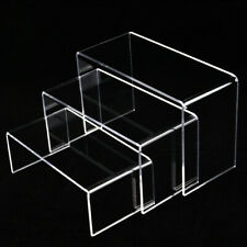 3pcs Acrylic Showcase Shoes Book Display Stand Holder Jewelry Organizer Rack