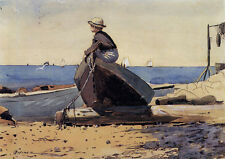 Waiting for Dad  by Winslow Homer  Paper Print Repro