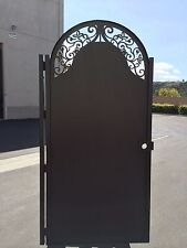Solid Metal Gate Italian Contemporary Modern Walk Pedestrian Entry Custom Iron