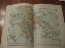 Nice Antique Map of Greece c. 1895 Johnston