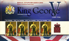 Gambia 2011 MNH Royal Anniversaries King George V 100th Coronation Anniv 4v M/S