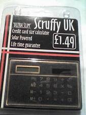 SCRUFFY UK Ultra Slim Solar Powered Credit Card size Calculator  - UNUSED - B